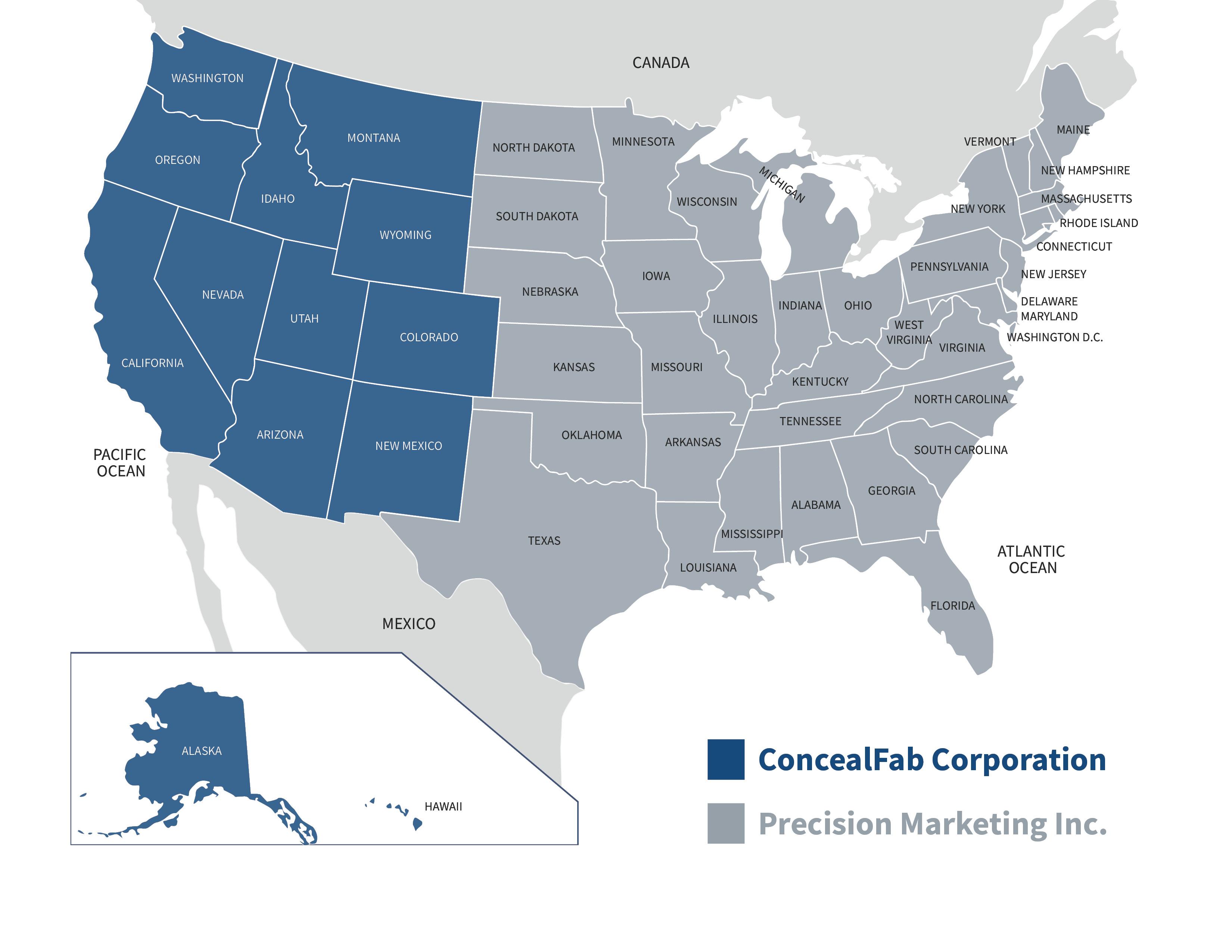 ConcealFab Service Map